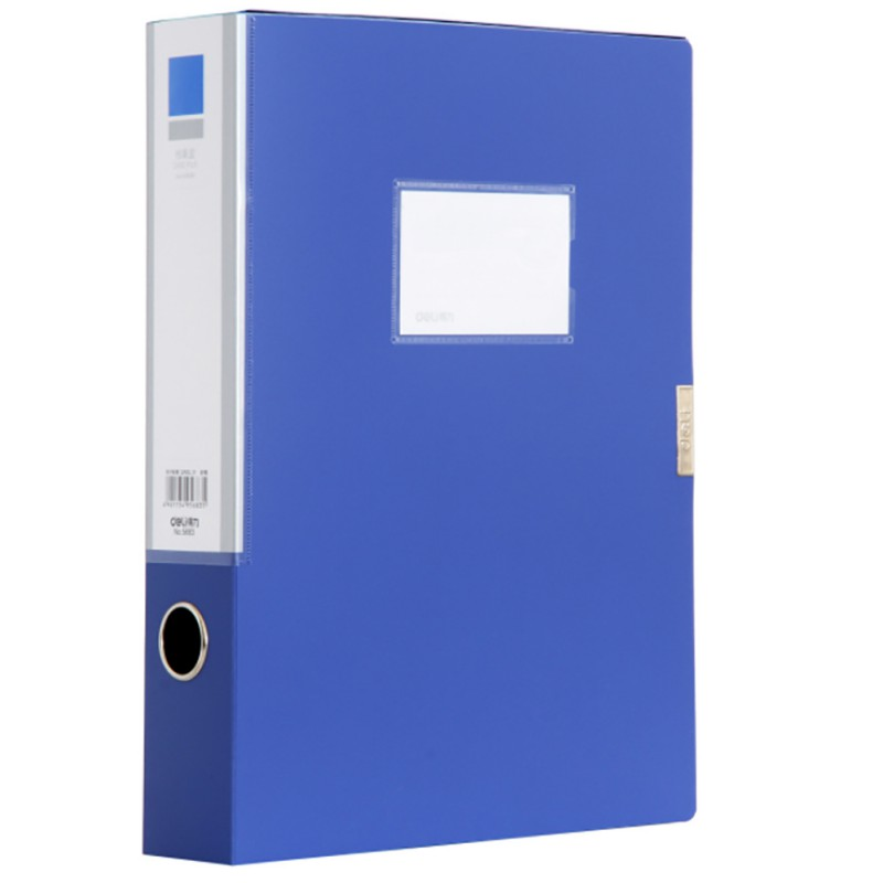 Deli Plastic File 3 Inch File Box A4 Data Box Office Stationery 55mm Student Supplies And Office Supplies
