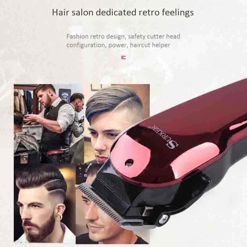 Surker Sk-710 Electric Hair Clipper Retro Oil Head Shear Dc Connection Adjustable Hair Clipper Hair Salon Styling Tools Eu Plug
