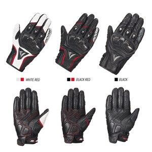 Image 3 - Luvas de couro para motocicleta, luvas de couro para motocicleta, motocross, dedos completos, M XXL