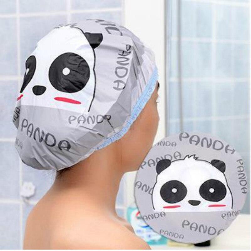 Милый мультяшный тюрбан, шапочка для душа, быстро сохнет, шапочка для душа, обернутая полотенцем, шапочка для купания, аксессуары для ванной ...