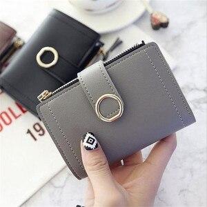 Women Wallets Small Pu Purse Ladies Card Holder Bags For Women Short Clutch Female Leather Purse Money Clip Purses Bolsa Brand