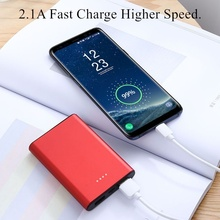 Mini Portable Charger 10000mah Power Bank Dual-USB PoverBank External Battery Quick Charger for Xiaomi Mi IPhone Mobile Battery