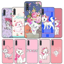 Silicone Case Cover For Samsung Galaxy A50 A80 A70 A40 A30 A20 A20e A10 A9 A8 A7 A6 Plus 2018 Note 10 9 8 AristoCats Marie Cat(China)