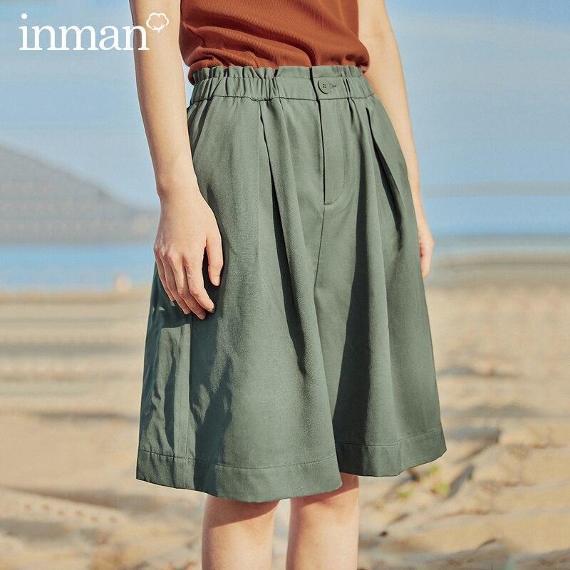 INMAN 2020 Summer New Arrival Loose Casual Vintage Hongkong Style Half Length Short Pant