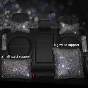 Image 3 - Capa para volante de carro, capa com brilho de cristal, strass, couro pu de alta qualidade para automóveis de 38cm e 15 polegadas volante volante