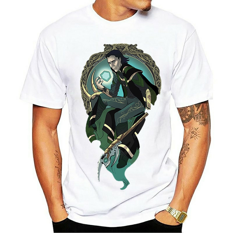 The Darkness In Me Loki T Shirt Leisure Homme Tee Shirt Print Tees Casual Top Design Short-sleeved