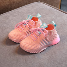 New Children Luminous Shoes Boys Girls Sport Running Shoes Mesh Led Light Sport Shoes Flashing Lights Fashion Sneakers Autumn(China)