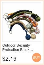 Наружная защита безопасности черная обезьяна кулак стальной шарик для девушки подшипник самообороны ремешок брелок для выживания разбитые окна