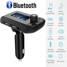 цена на Car Kit Handsfree Wireless Bluetooth FM Transmitter LCD MP3 Player USB Charger 3.1A Hands Free