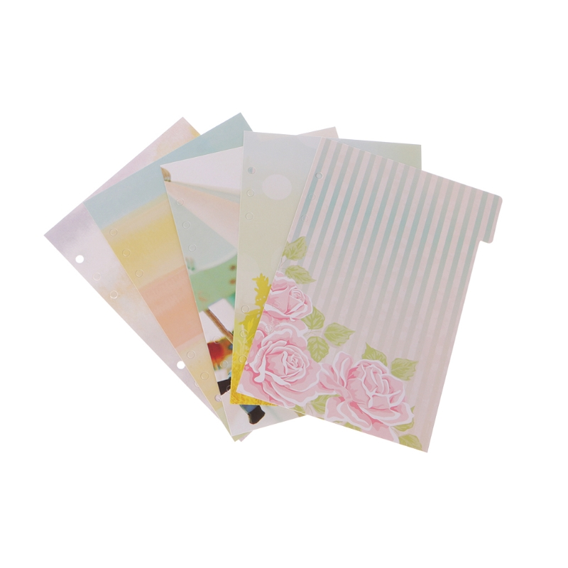 5 Pcs Flower Dividers Accessories for Dokibook Notebook Planner A5 A6 Inner Page