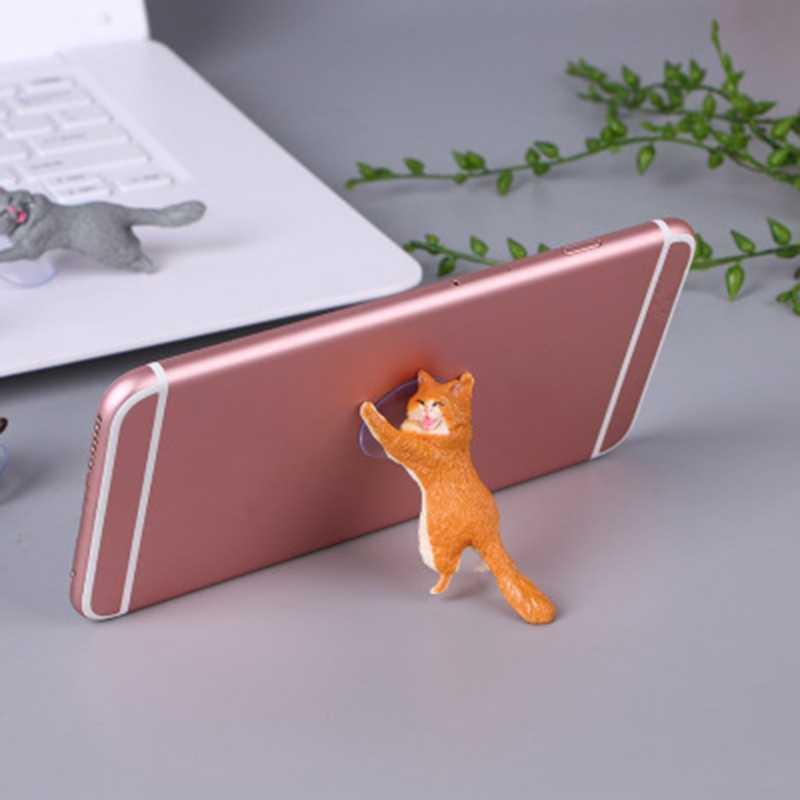 COOL MR Cat Case for Mobile Phone Portable Universal Phone Holder Phone Stand ัวป๊อปติดมือถือที่ติดหลังมือถือ (Sucker แท็บเล็ตผู้ถือสมาร์ทโฟน 72XC