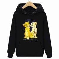 The Lion King Simba Nala Love Will Find A Way Hoodies Sweatshirts Black Men S 6XL 4000072207502