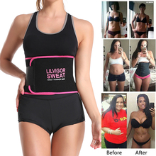 Waist-Trimmer-Belt Sweat Sauna Stomach Weight-Loss-Wrap Compression-Strap Body-Shaper