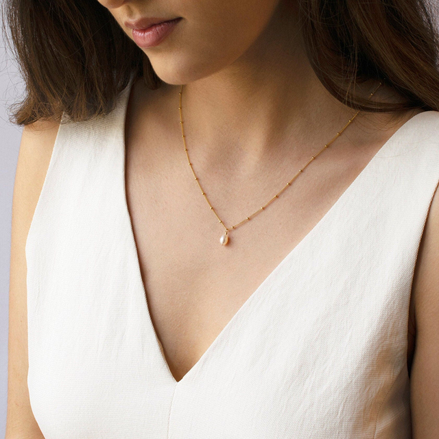 Naszyjnik z pereł ręcznie robiona biżuteria łańcuszek Choker łańcuszek złoty wypełniony wisiorki Collier Femme Kolye Collares naszyjnik dla kobiet