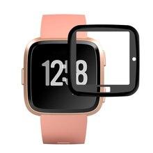3 шт. прозрачная защитная пленка с защитой от царапин HD 3D с полным покрытием и закругленными краями, водонепроницаемая Защитная пленка для Fitbit Versa