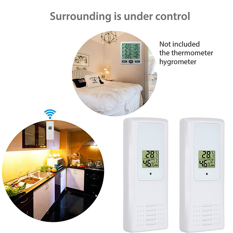 WS-07 Weather Station For WS-07 Air Conditioning Temperature Sensor LCD Wireless Weather Station Remote Sensor Office, Hospital,