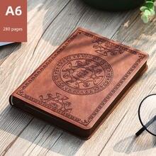 A6 Дневник Блокнот Ретро Обложка мягкий красивый кожаный блокнот
