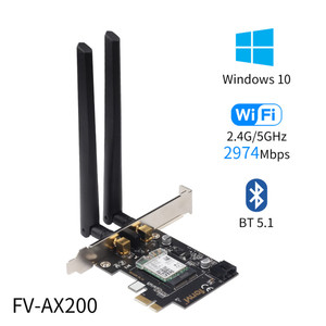 2400 Мбит/с двухдиапазонный Wi-Fi 6 для Intel AX200 NGFF PCI-E сетевая карта 802,11 ac/ax Bluetooth 5,1 беспроводной адаптер для настольного ПК Win10