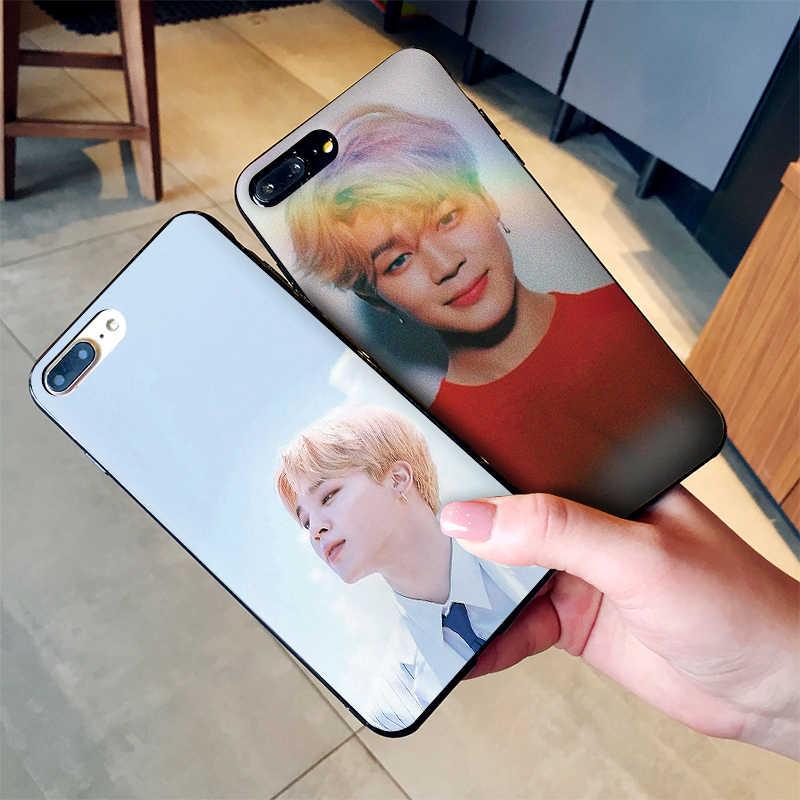 หรูหรากรณีสีดำสำหรับ Samsung Galaxy S6 S7 Edge S8 S9 S10 PLUS หมายเหตุ 8 9 M10 20 30 ฝาครอบ EXO Park Chan Yeol