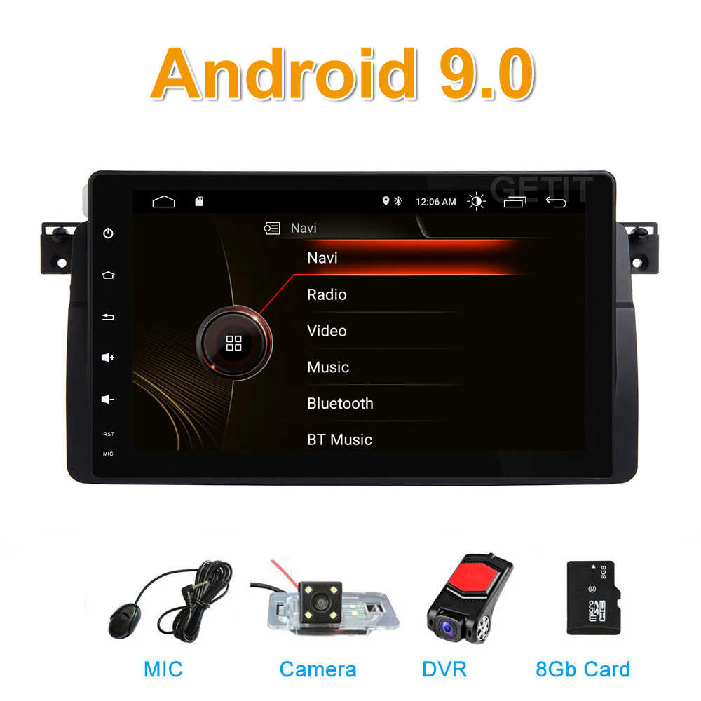 DSP Auto Radio Android 9.0 Car Stereo for BMW E46 M3 318/320/325/330/335 Rover 75 1998-2006 GPS Navigation BT Wifi