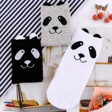 1 paar Erwachsene Größe Tier Crew Kurze Knöchel Schönen Frühling Herbst Cartoon Panda Socken 3D Gedruckt Ankle-Hohe Nette socken