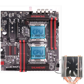 X79  motherboard LGA 2011 with 2*E5 2680 V2 + 2*CPU Cooler
