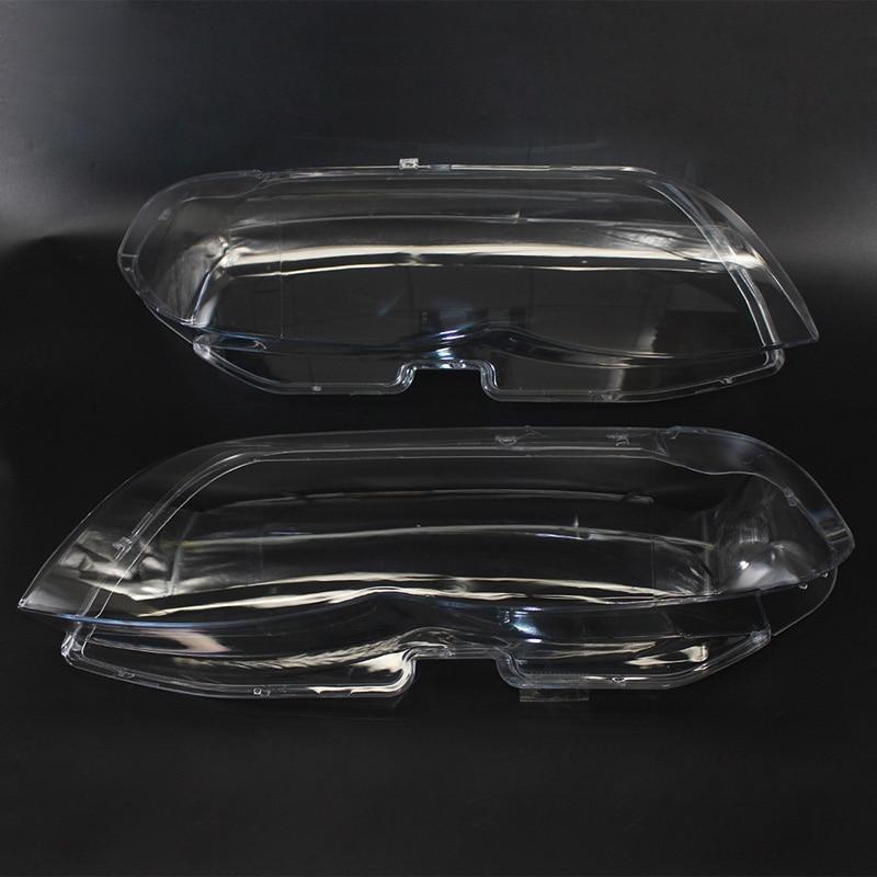 For BMW X5 E53 2004 2005 2006 Car Waterproof Headlamp Headlight Lamp Cover Lampshade Bright Lamp Shade Shell Cap