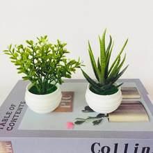 Simulação verde planta pote simulação suculenta pequena simulação bonsai endro verde vaso de flor falsa vasos pequenos ornamentos