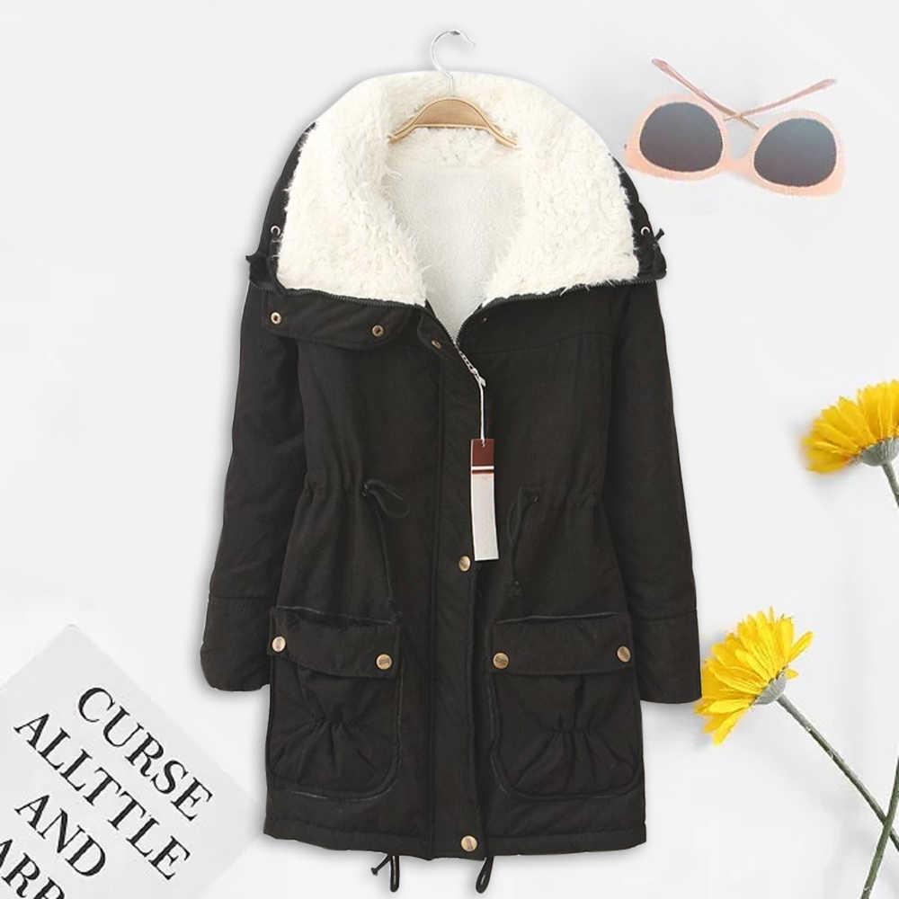 LOOZYKIT 冬パーカー綿のコートの女性スリム雪生き抜く中 · 長期キルトジャケット厚い綿パッド入り暖かい綿パーカー