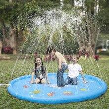 Verão gramado crianças jogo de água tapete de jogo crianças ao ar livre respingo esteira para crianças jogos de piscina brinquedo polvilhe respingo água brinquedo almofada de banho