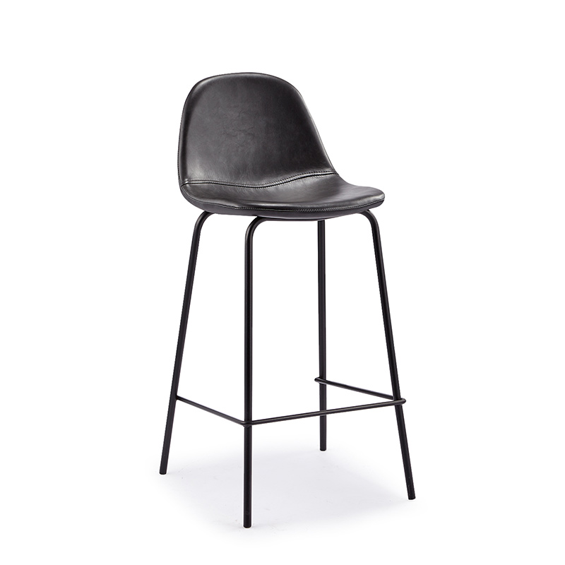 Nordic Leisure Wrought Iron High Bar Stool Cafe Back Metal Bar Chair Home Simple Bar Stool Restaurant Dining Chair