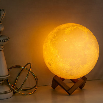 3D Print Moon Lamp LED Night Light Creative Touch/Tap Remote  Switch Table Desk Lamp Home Decor Creative Gift dropship 3d print moon lamp 20cm 18cm 15cm colorful change touch usb led night light home decor creative gift