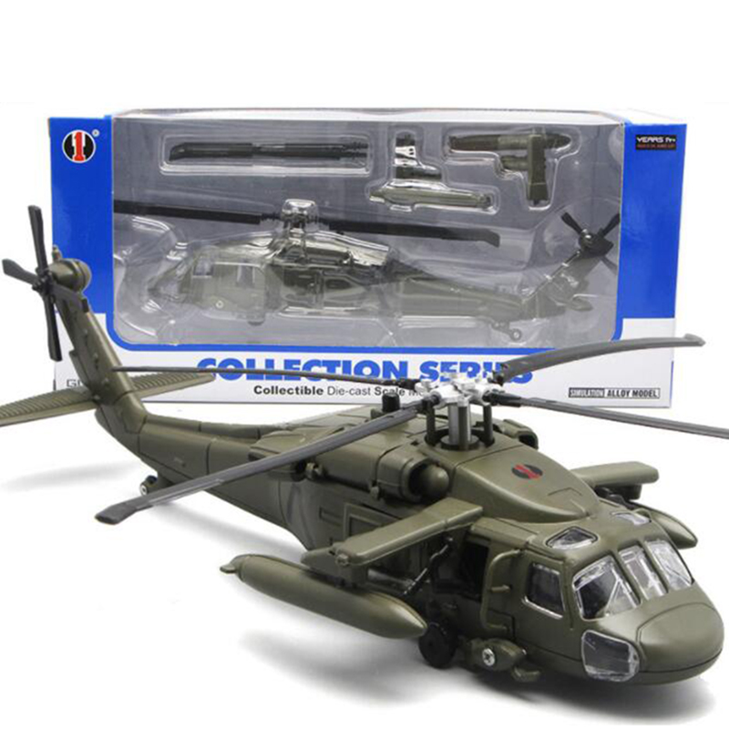 1/72 Scale 29CM Black Hawk Helicopter Millitary Model Army Fighter Aircraft Airplane Models Adult Children Toys Military Model