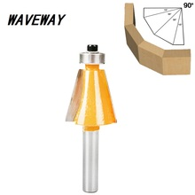 цена на 8mm Shank 15 Degree Chamfer & Bevel Edging Router Bit Horse Nose Bit with bearing Wood Cutting Tool Woodworking Router Bits