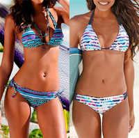 Imprimé Floral bikinis 2019 nouveaux maillots de bain femmes maillot de bain plage maillot de bain femme biquini sexy brésilien bikini ensemble