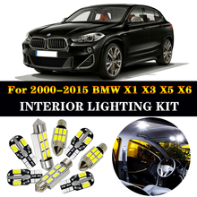 цена на 100% Perfect White Error Free Canbus LED bulb interior map dome light Kit for 2000-2015 BMW X1 E84 X3 E83 F25 X5 E53 E70 X6 E71