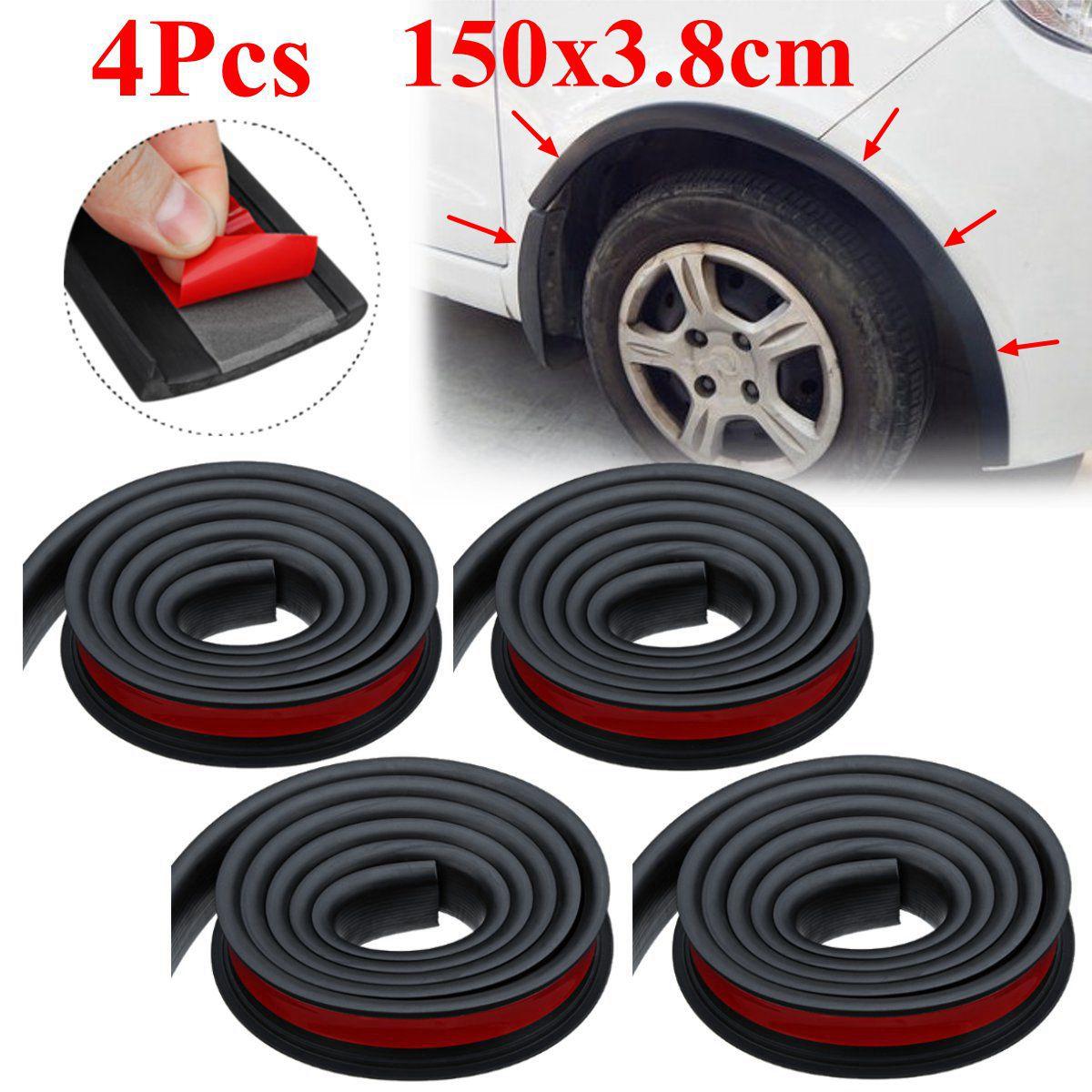 Универсальная пара резиновых крылышков для автомобиля, защитная дуга для большинства легковых автомобилей, литье 1,5 м x 3,8 см|Тюнинговые молдинги|   | АлиЭкспресс
