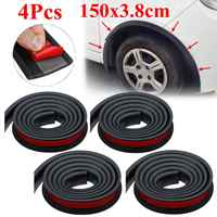 Universal Pair Rubber Car Mudguard Trim Wheel Arch Protection Moldings for most cars trucks SUVs Car Styling Moulding 1.5Mx3.8CM