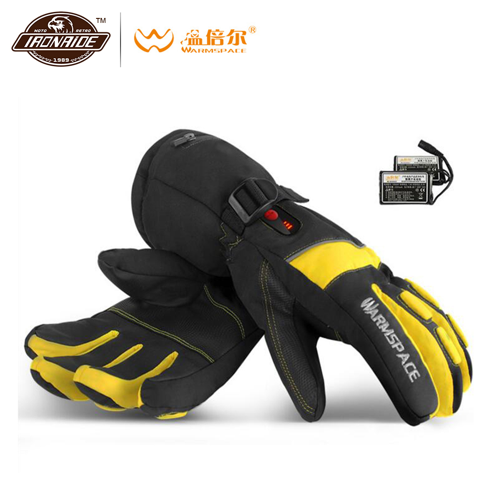 Gants de Moto WARMSPACE gants chauffants imperméables à l'eau gants de Moto d'équitation à piles écran tactile Gant Moto pour l'hiver