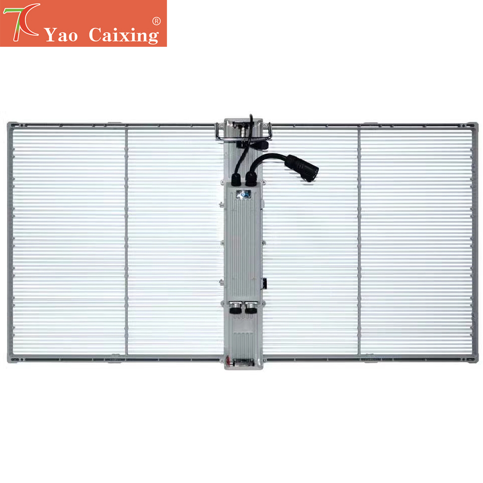 Купить с кэшбэком P3.91 dot matrix transparent curtain screen indoor full color glass window display video wall