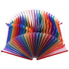 24 Pockets Expanding File Folder Accordian File Organizer A4 Letter Size Document Organizer Rainbow Color for Home Office School