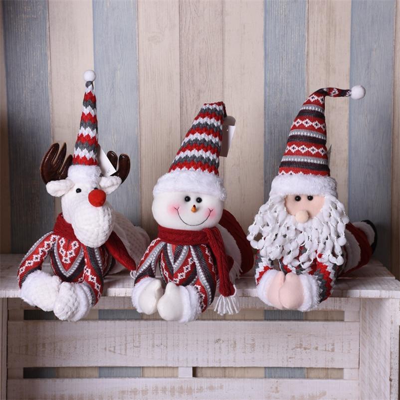 25cm Santa Claus Plush Dolls Christmas Hat Christmas Supplies For Home Gifts