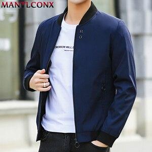 Image 2 - MANTLCONX plus récent solide automne hommes vestes mâle décontracté fermeture éclair été veste hommes printemps décontracté Outwear hommes mince veste homme automne