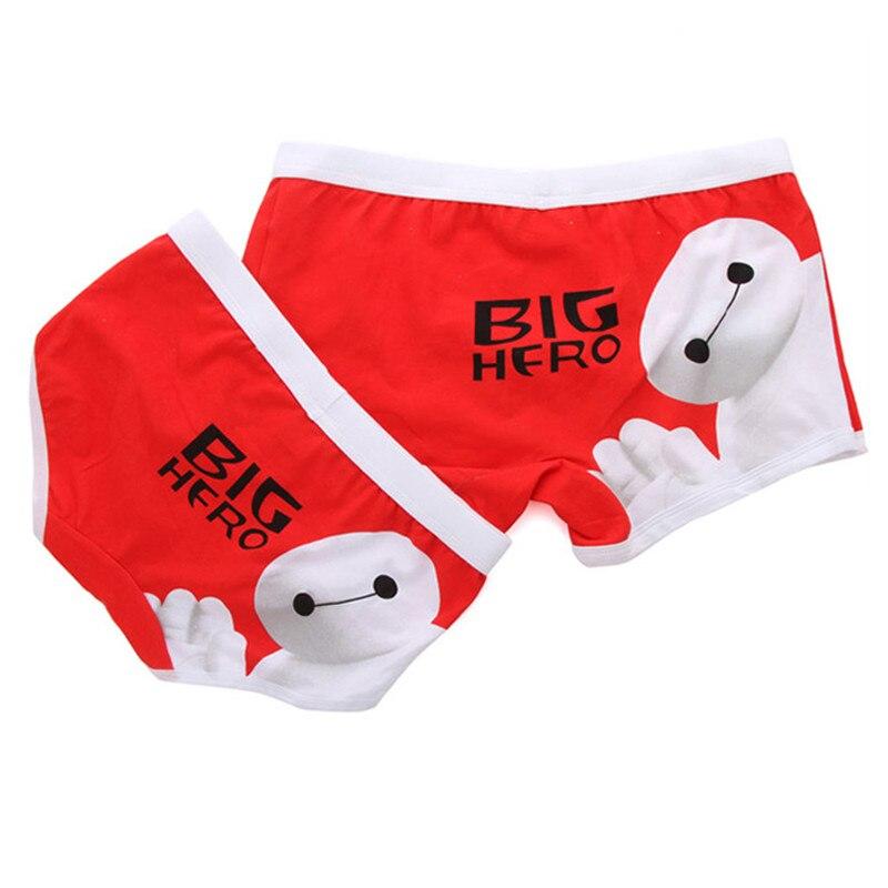 Cute Couple Panties Cotton Boxer Men Funny Underwear For Lovers Couples Underpants Boxers Homme Shorts Cartoon Superman Cuecas