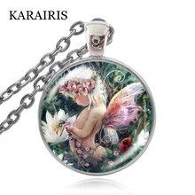 Ожерелье karairis с кабошоном из стекла подвеской в виде малыша