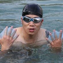 Erwachsene Männer Weiche Silikon Schwimmen Flossen Flossen Frosch Hand Schwimmen Schwimmhäuten Handschuh Multi Größe Trainings Paddle Dive Nützlich