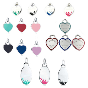 1: 1 Original Model S925 Sterling Silver Pendant For Necklace Fashion Heart-shape Pendants Ladies Jewelry Birthday Gift