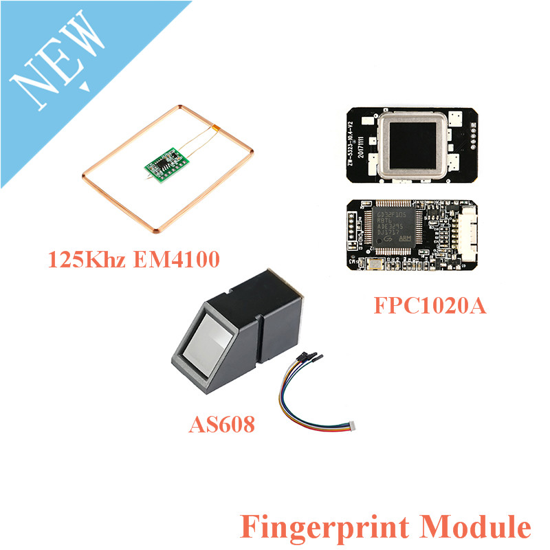 UART 125Khz EM4100 FPC1020A AS608 Fingerprint Reader Sensor Module RFID ID IC Card Capacitive Fingerprint Module For Arduino