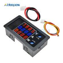цена на Digital Voltmeter Ammeter DC 0-100V 10A 4 Digit Panel Amp Volt Voltage Current Meter Tester 0.28 Red Blue Red LED Display 1000W