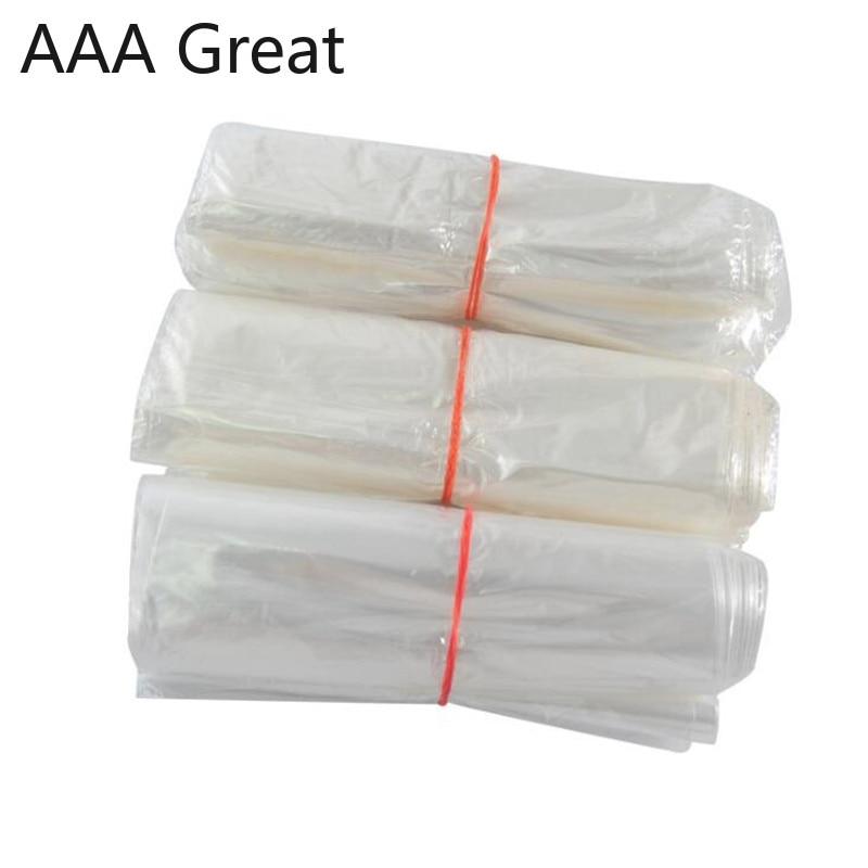 200 Pcs PVC Heat shrinkable Packaging Bags Transparent Shrink Wrap Film Pouches